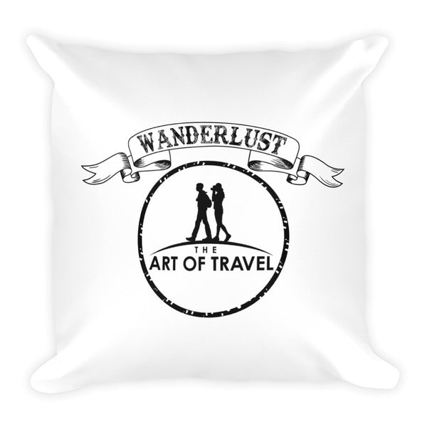 Wanderlust Live Dream Travel the World Pillow - The Art Of Travel Store: Travel Accessories and Travel T-Shirts