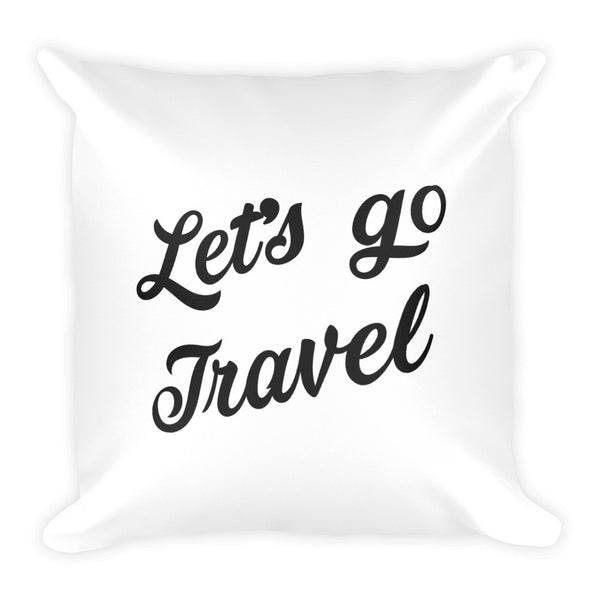 Adventure Awaits Let's Go Travel Pillow - The Art Of Travel