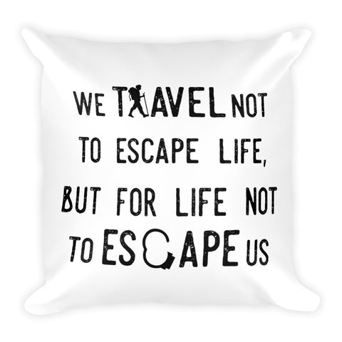 Wanderlust Live Dream Travel the World Pillow - The Art Of Travel Store: Travel Accessories, Travel Clothes, Travel Gear