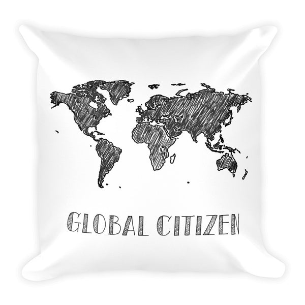 Global Citizen Peace on Earth Travel Pillow - The Art Of Travel Store: Travel Accessories and Travel T-Shirts