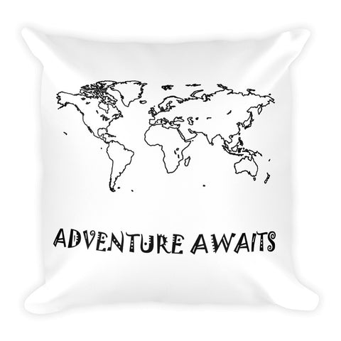 Adventure Awaits Let's Go Travel Pillow - The Art Of Travel Store: Travel Accessories, Travel Clothes, Travel Gear