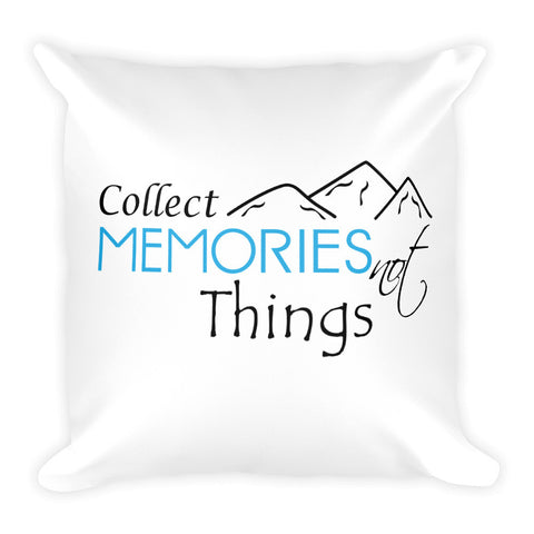 Collect Memories Not Things Travel Pillow - The Art Of Travel Store: Travel Accessories, Travel Clothes, Travel Gear