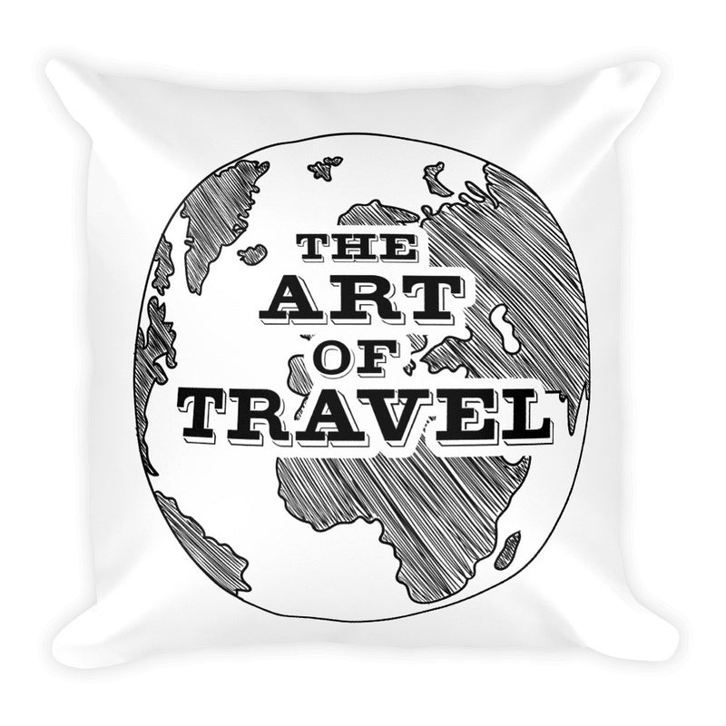 Not All Who Wander Are Lost Travel Pillow - The Art Of Travel