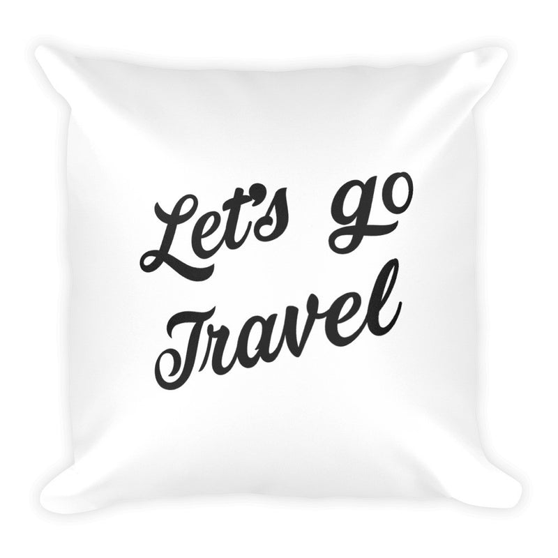 The Art Of Travel Sqaure Pillow - The Art Of Travel Store: Travel Accessories and Travel T-Shirts
