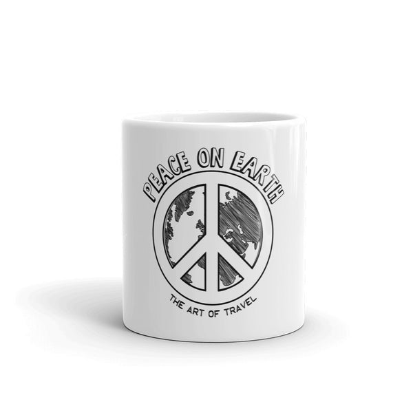 Peace on Earth Coffee Tea Mug - The Art Of Travel Store: Travel Accessories, Travel Clothes, Travel T-Shirts