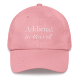 Addicted to Travel Classic Cap Regular Head Size - The Art Of Travel Store: Travel Accessories, Travel Clothes, Travel Gear