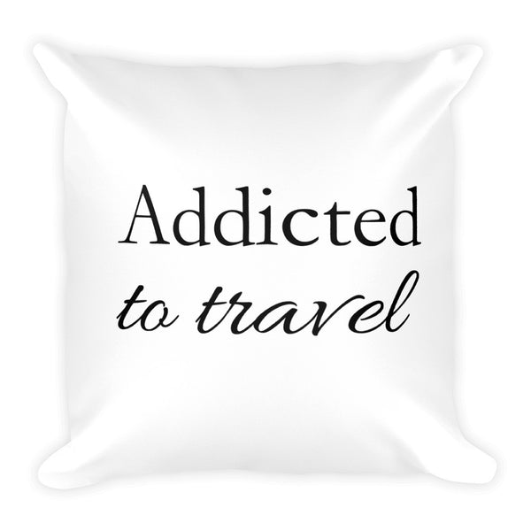 Travel Ninja Addicted to Travel Pillow - The Art Of Travel Store: Travel Accessories and Travel T-Shirts
