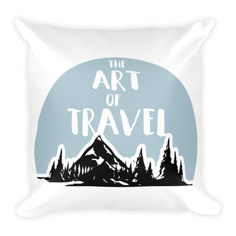The Art Of Travel Sqaure Pillow - The Art Of Travel Store: Travel Accessories, Travel Clothes, Travel Gear