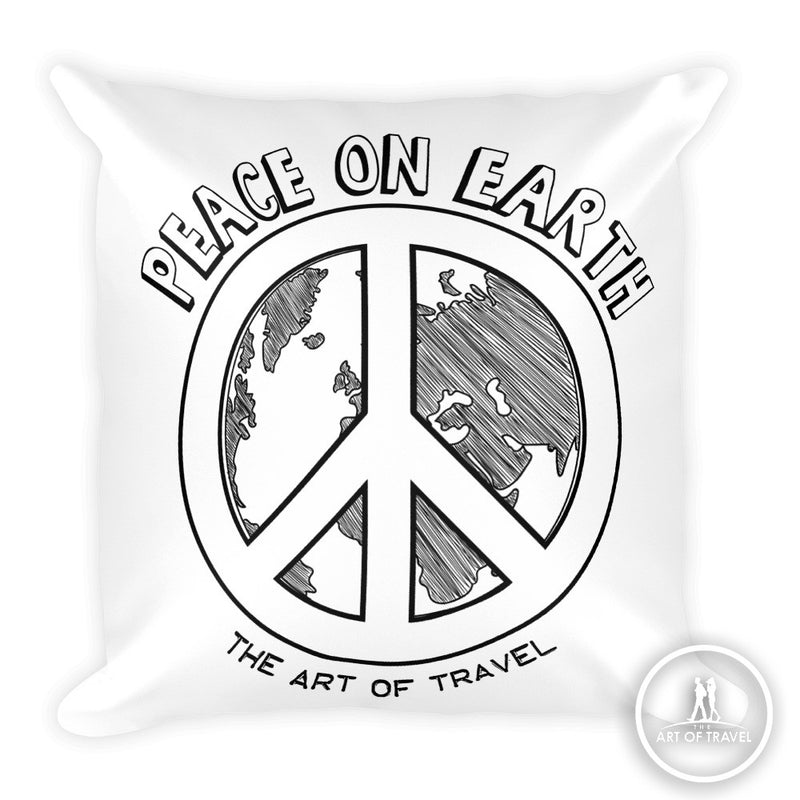 Peace on Earth Global Citizen Travel Pillow - The Art Of Travel Store: Travel Accessories and Travel T-Shirts