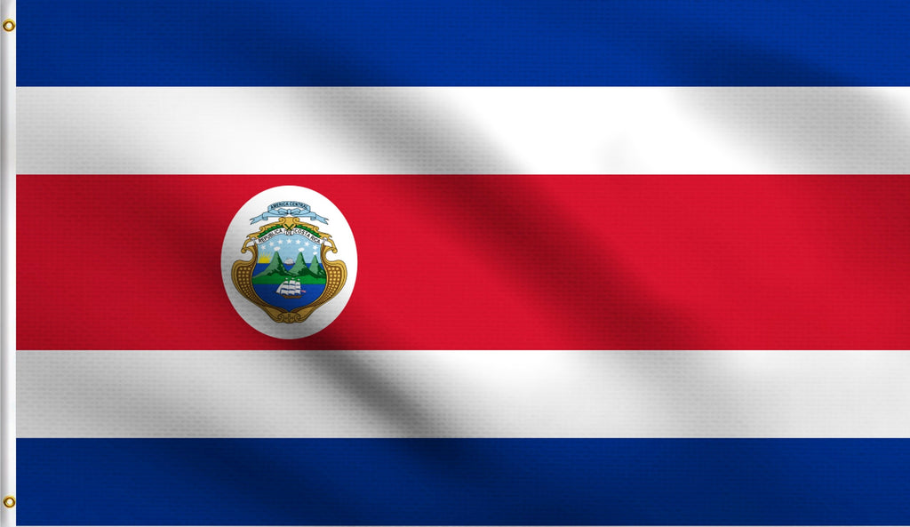 Economy 3X5 Costa Rica Rican Polyester Flag