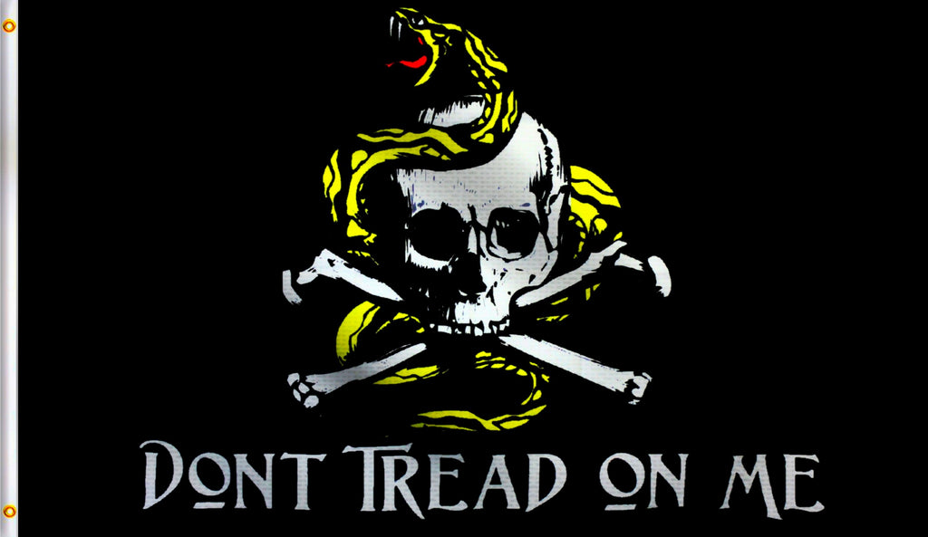 3x5Dont Tread On Me Pirate Cross Bone Polyester Flag