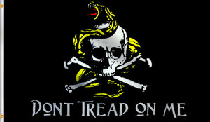 Economy 3X5Dont Tread On Me Pirate Cross Bone Polyester Flag