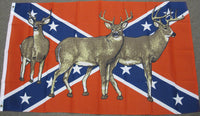 3'X5' Confederate With Deer Polyester Flag Rebel