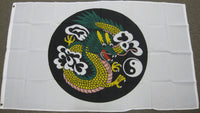 3'X5' Chinese Dragon Yin Yang Polyester Flag