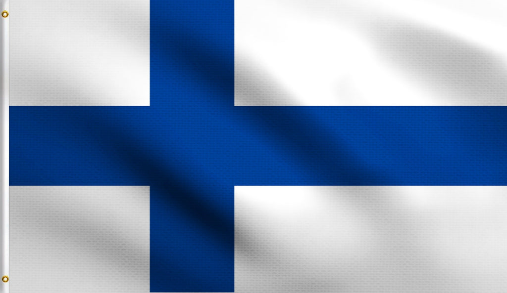 3x5 Finland Finnish Polyester Flag