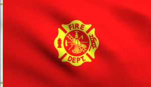 3x5 Fire Department Fireman Polyester Flag
