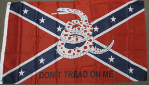 3'X5' Rebel Dont Tread On Me Polyester Flag Confederate