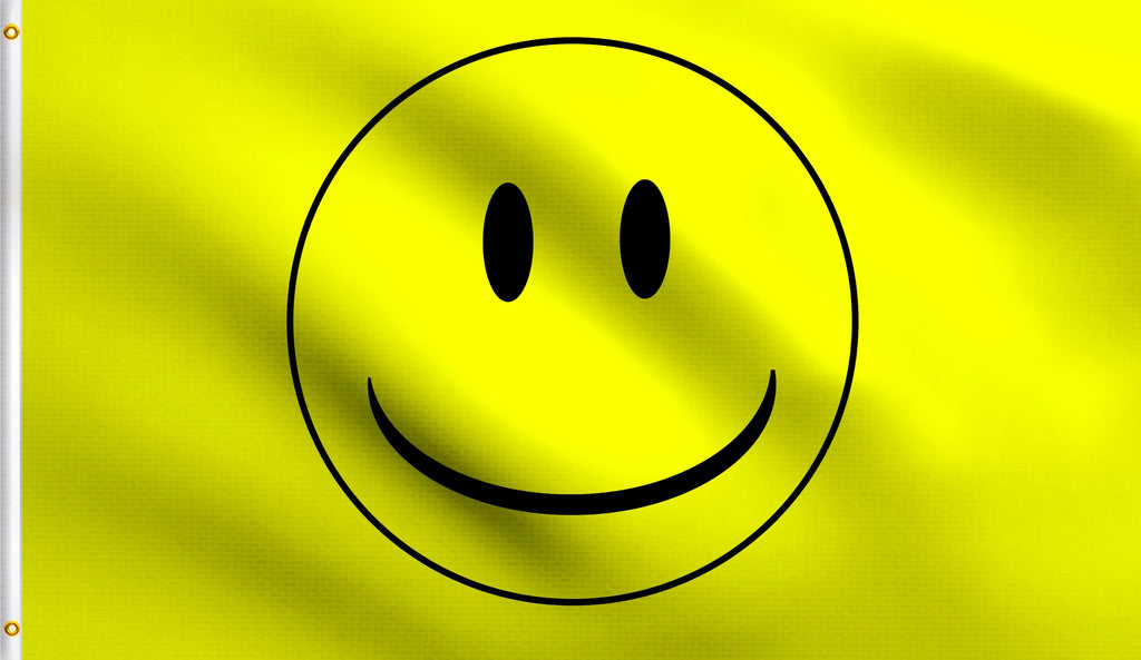 Economy 3'X5' Smiley Face Polyester Flag