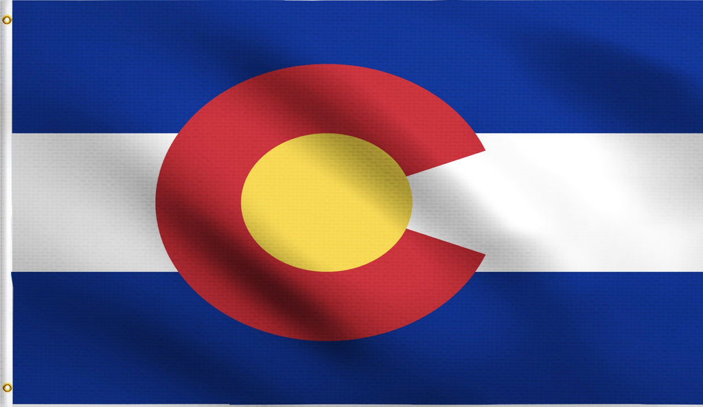 Economy 3'X5' Colorado State Co Polyester Flag