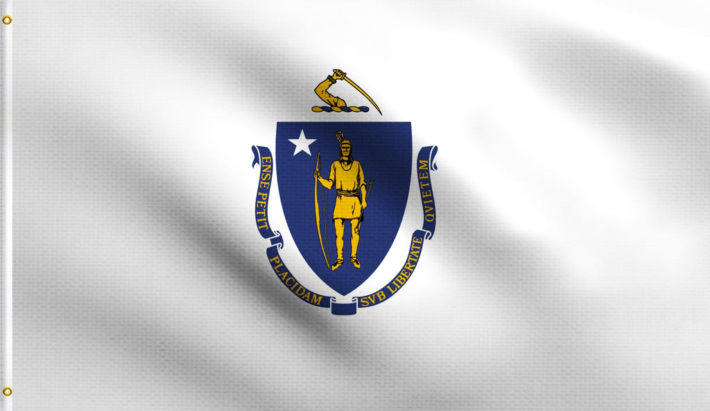 3x5 Massachusetts State Ma Polyester Flag