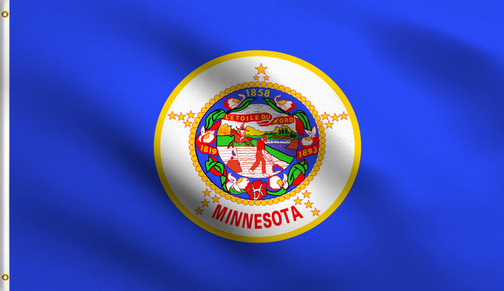 3x5 Minnesota State Mn Polyester Flag