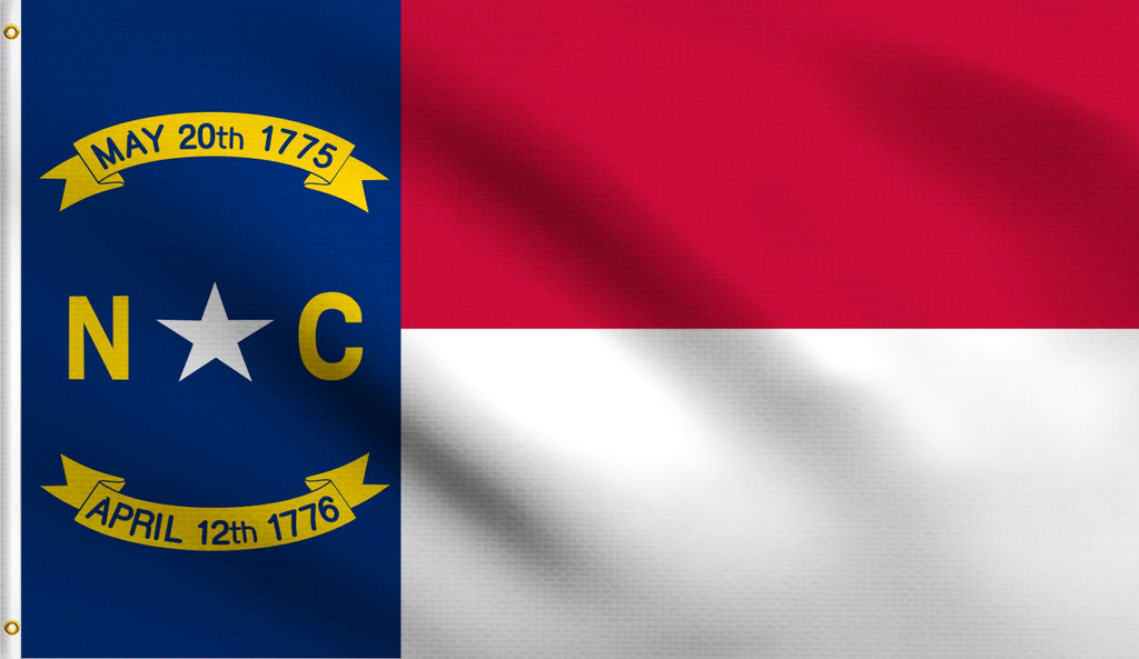 2x3 North Carolina State Polyester Flag