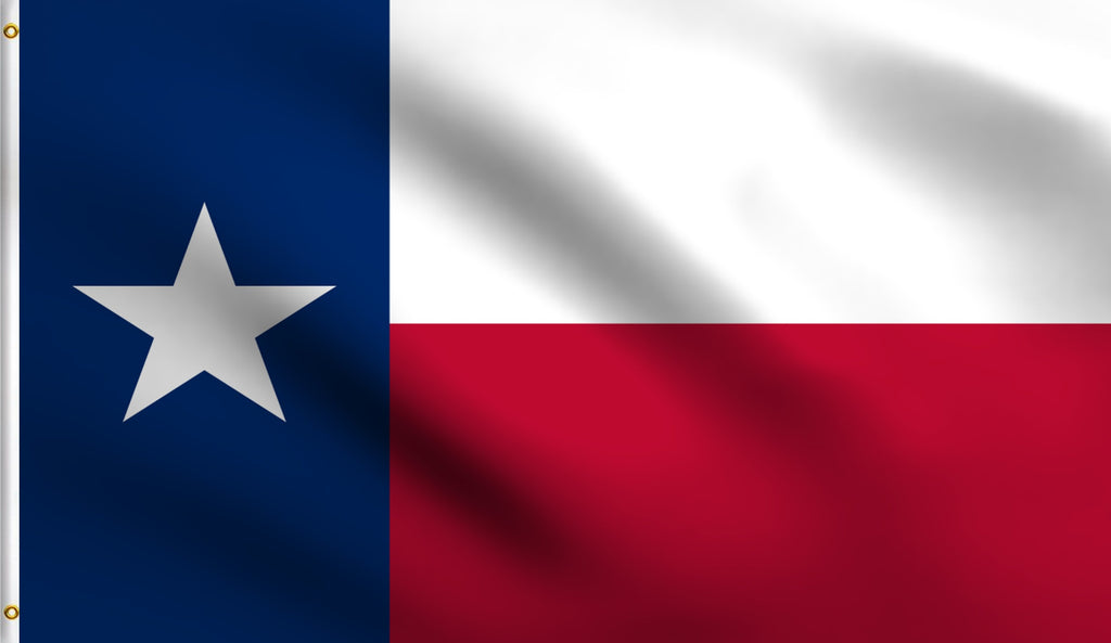 Economy 3'X5' Texas State Tx Lone Star Polyester Flag