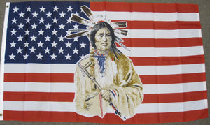 3'X5' USA Native American Polyester Flag Indian