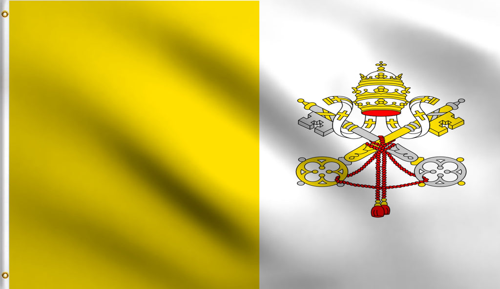 3x5 Vatican Polyester Flag