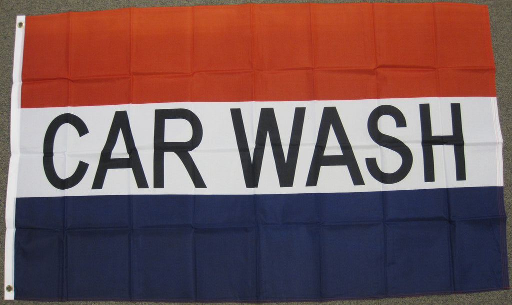 3'X5' Car Wash Polyester Flag