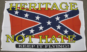 3'X5' Heritage not Hate Confederate Polyester Flag Rebel