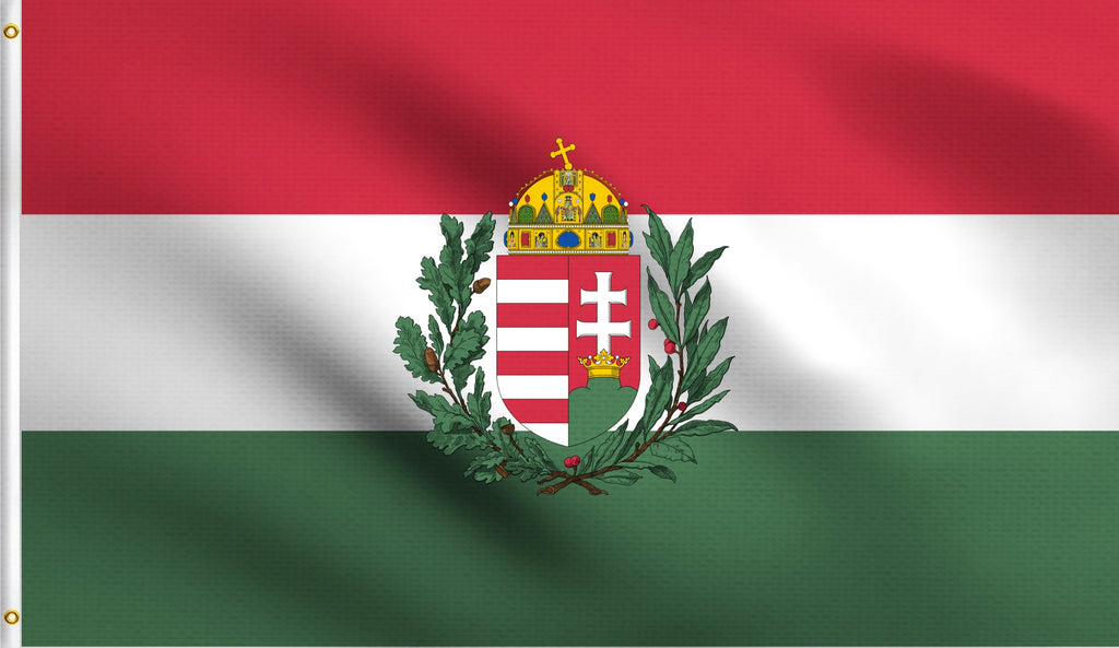 3x5 Hungary With Crest Polyester Flag Hungarian