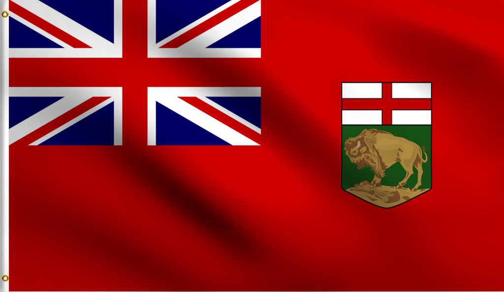 3x5 Manitoba Polyester Flag Canada Province