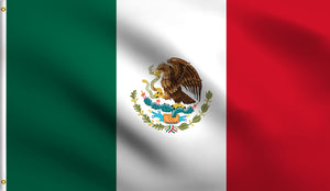 3x5 Mexico Polyester Flag Mexican Hispanic
