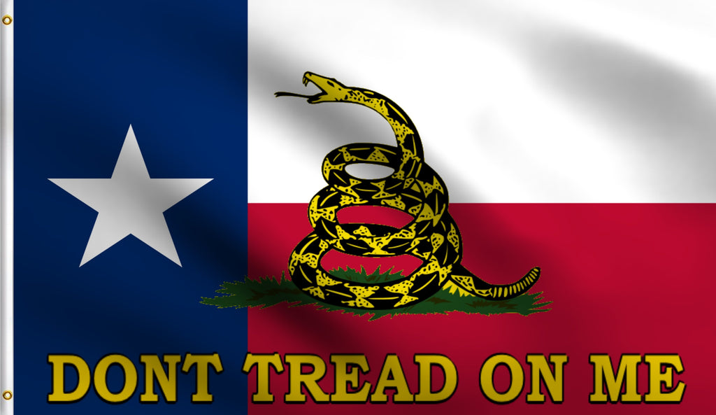 3x5 Dont Tread On Me Texas Gadsen Polyester Flag