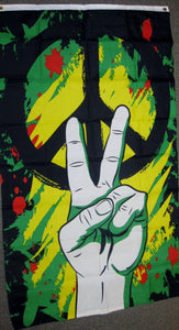 Economy 3'X5' Peace Hand Sign Polyester Flag