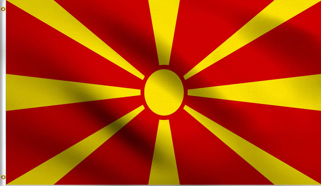 2x3 Macedonia Polyester Flag Macedonian