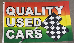 3'X5'  Quality Used Cars Polyester Flag Checkered