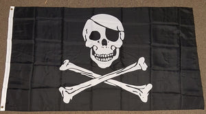3'X5' Pirate Nylon Flag Jolly Roger Skull Crossbones