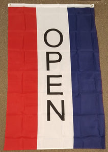 3'X5' Vertical Open Polyester Flag