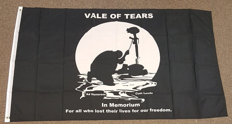 3'X5' Pow Mia Vale Of Tears Polyester Flag Ad Honorem Cum Laude