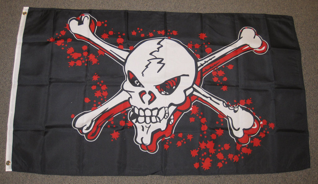 3'X5' Grapeshot Blood Pirate Polyester Flag