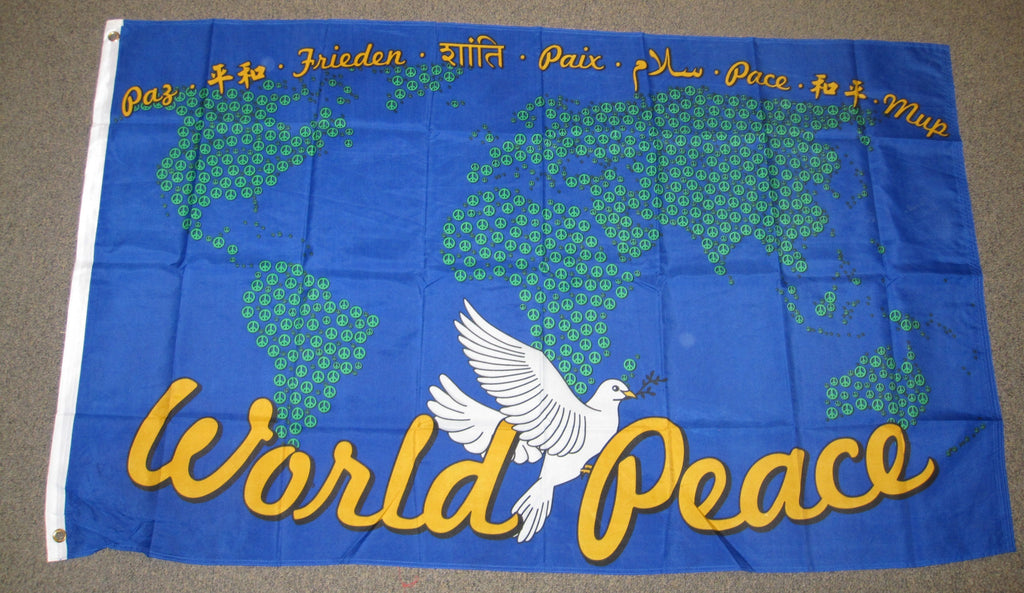 3'X5' World Peace Map Polyester Flag