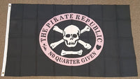 3'X5' Pirate Republic Polyester Flag No Quarter Given