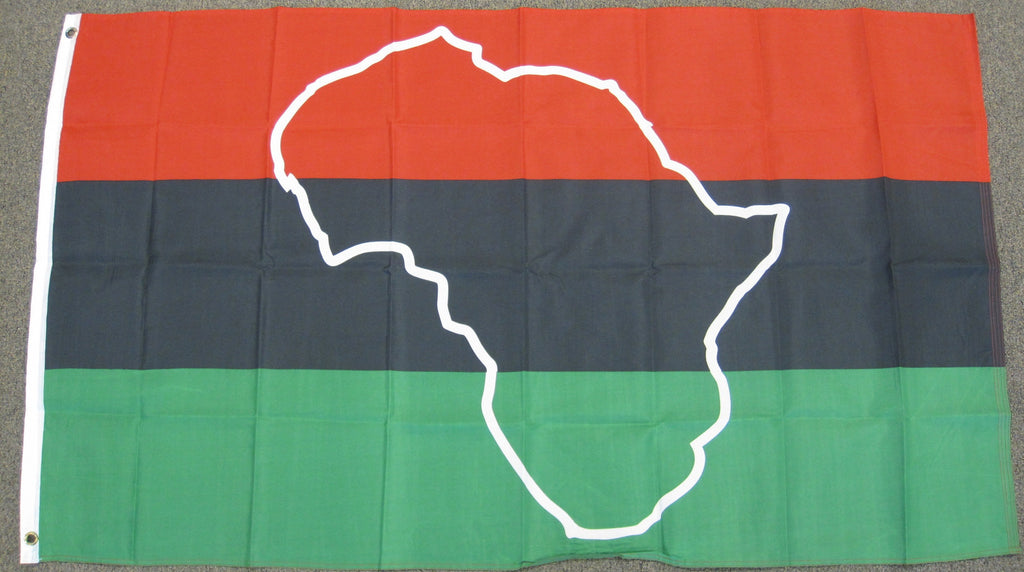 3'X5' African American Map Polyester Flag Africa