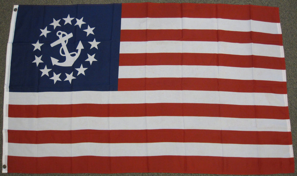 3'X5' Yacht Ensign Polyester Flag Sail Boat Nautical USA