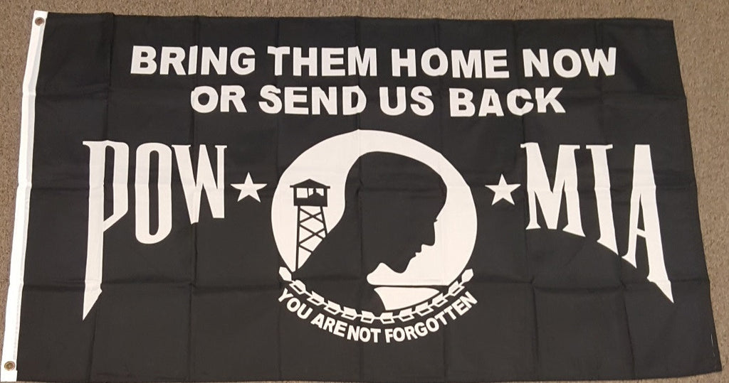 3'X5' Pow Mia Bring Them Home Or Send Us Back Polyester Flag
