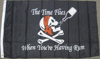 3'X5' Time Flies When Your Having Rum Pirate Polyester Flag