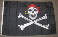 3'X5' Gold Teeth Pirate Polyester Flag Crossbones