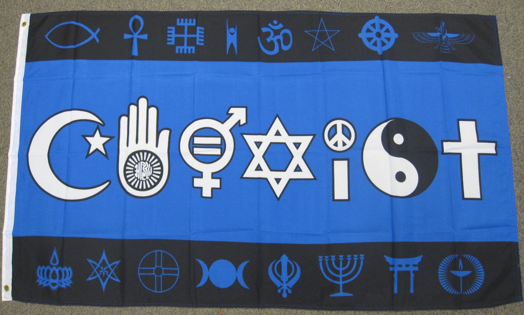 3'X5' Coexist Polyester Flag Peace Religion Human Rights